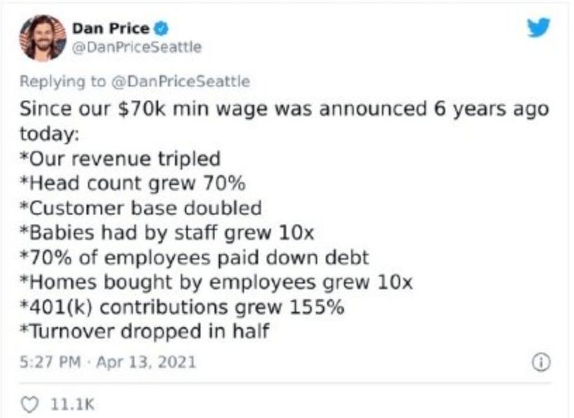 彻底炸锅!CEO砍掉自己百万年薪,为员工加工资!打工人酸了