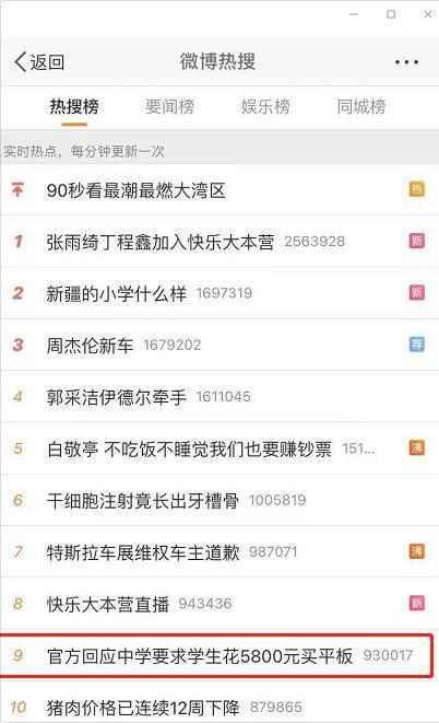 学生平板电脑排行榜_投诉禹州一公办小学要求学生买平板电脑,官方回复!