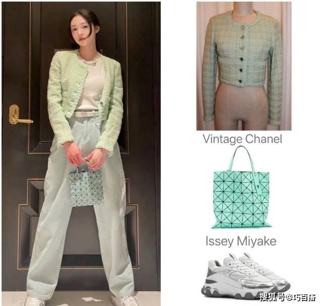 原创             周洁琼的私服值得借鉴,简单干净的日常时尚,演绎春季潮流范儿