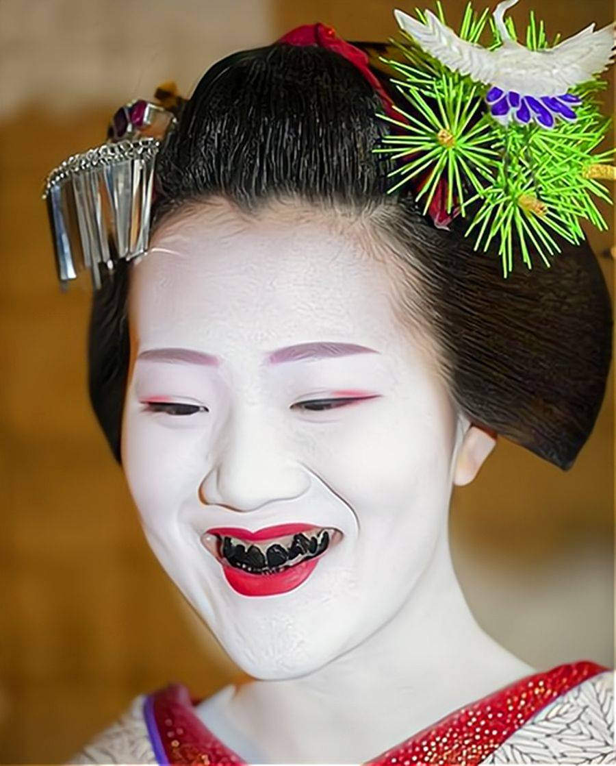 明治维新之前的日本女性 为什么要将牙齿染成黑色?-家庭网