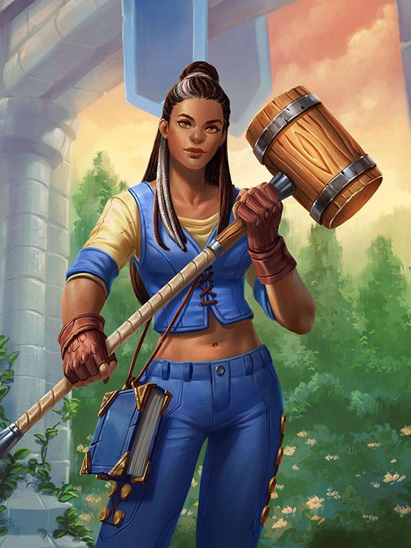 炉石传说联盟高质量人类再+1(白人罗姆居然有两个黑人女儿)