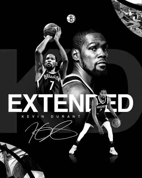 NBA-官宣!篮网4年1.98亿续约杜兰特,KD双喜临门,蔡崇信发声_旺百家主管