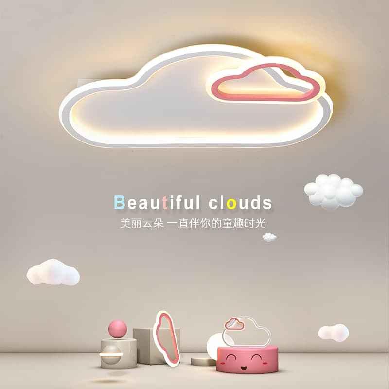 粉红色云朵儿童吸顶灯 04307