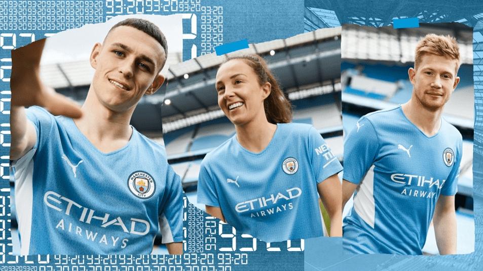 曼城发布2021/22赛季全新主场球衣 致敬93:20奇迹_2022世界杯分析