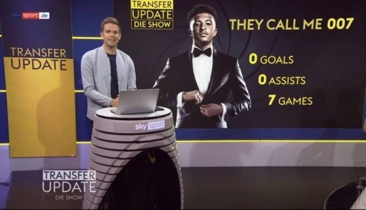 """7场英超0球0助!德天空嘲讽桑乔:他们叫我""""007"""""""
