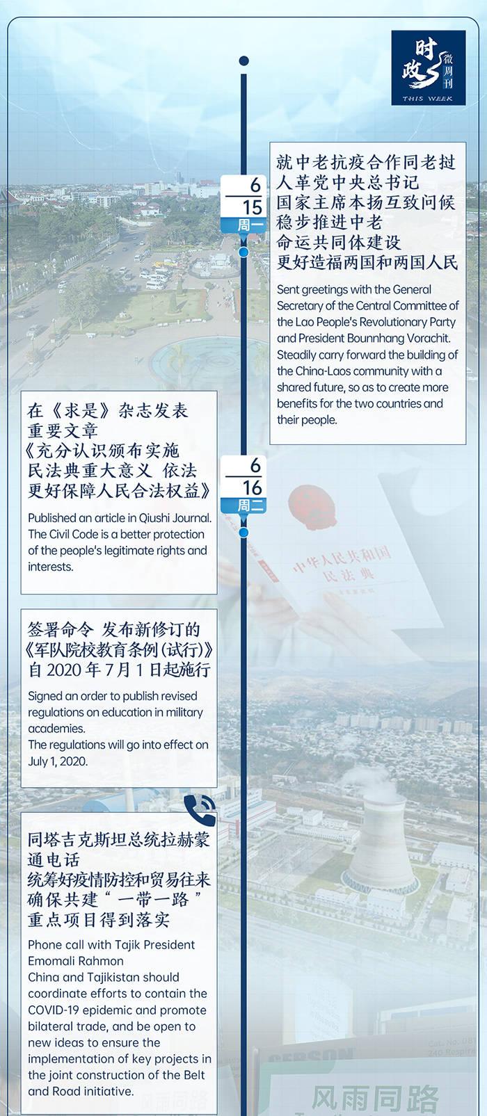 时政微周刊丨总书记的一周(6月15日—6月21日)