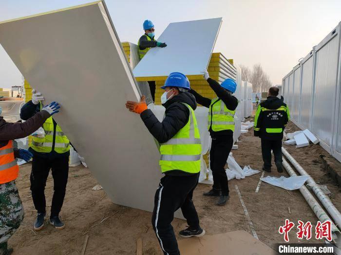 驻穗中央企业火线零线增援石家庄市集中化防护点基本建设