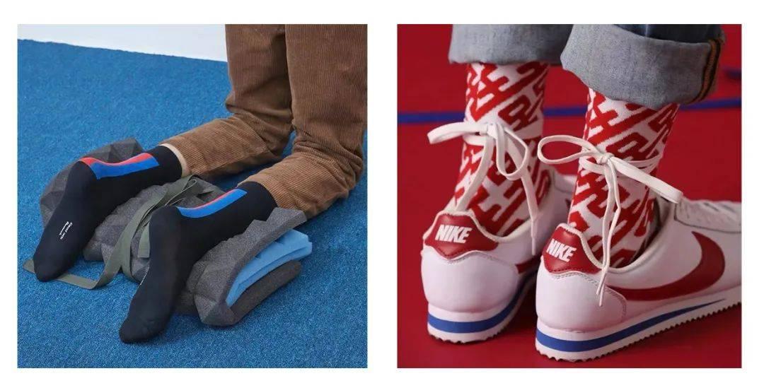 穿上这些花哨的袜子,我就开心!