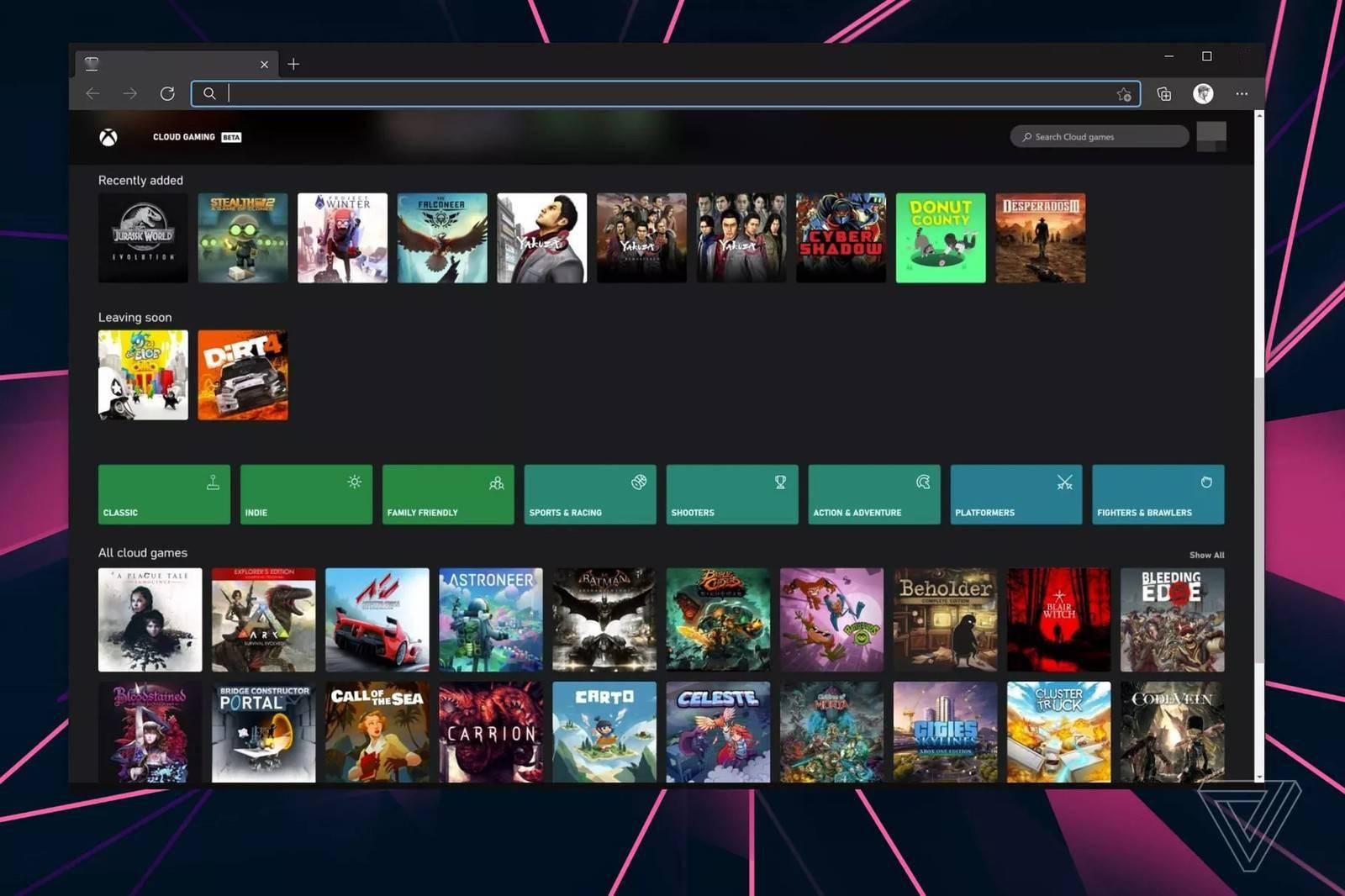 微软开始通过iOS和iPadOS浏览器测试游戏流媒体服务xCloud