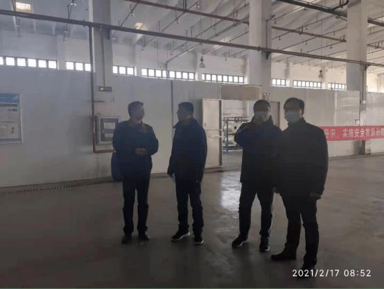 春节不打烊丨市生态环境局副局长姚宁带队检查市开发区企业环境安全工作