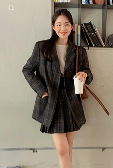 西装+裙子=春日最火穿法,好看爆了!!