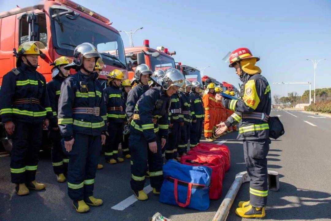 常州消防开展石油化工实战拉动