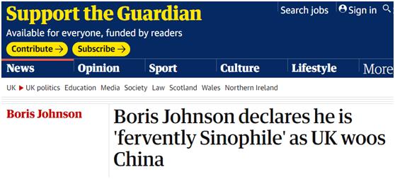 英媒披露约翰逊当着中国企业摊牌:我是狂热亲华派