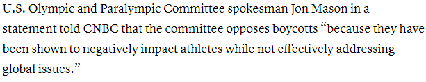 环球深观察丨美国政客公然挑事 这次反对的声音还包括美国奥委会