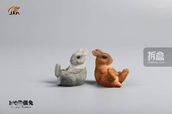 JXK.STUDIO 侏儒兔 动物宠物潮玩摆件 可爱手办迷你模型