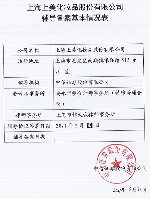 【韩束、一叶子母公司上美集团启动IPO】