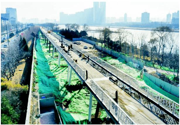 山西沿汾河流经市、县城区内,建设汾河自行车健身长廊