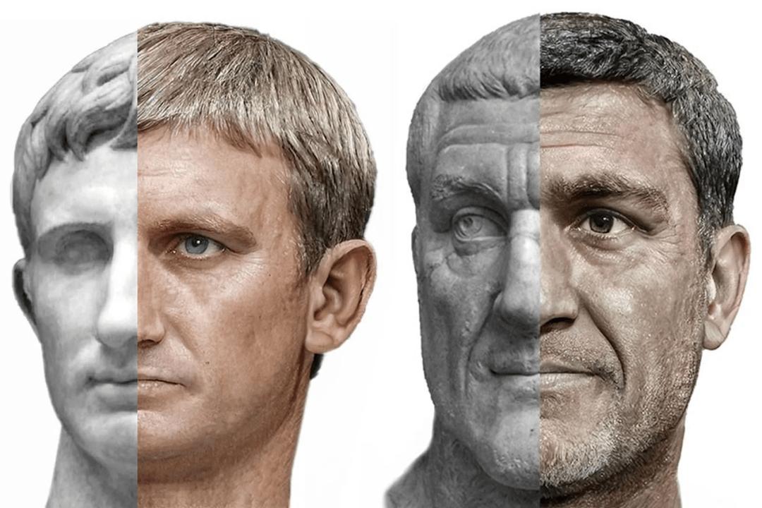 """54位古羅馬皇帝復原照問世,""""白人至上""""的一些外國網友驚了"""
