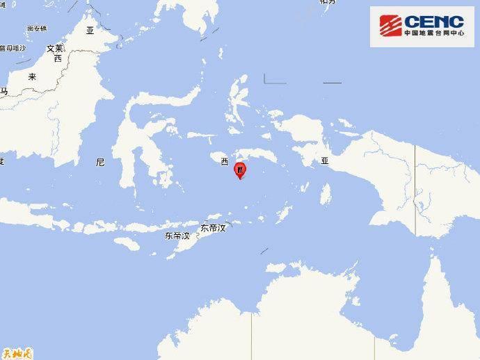 班达海发生5.9级地震 震源深度330千米