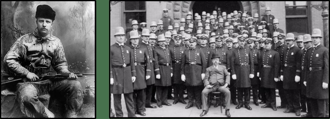 1895,西奥多·罗斯福出任纽约市警察局局长