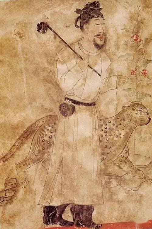武则天划龙舟、唐高宗猎豹子:千年前中亚壁画的