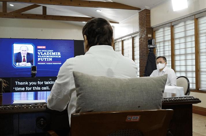 菲律宾总统杜特尔特与俄罗斯总统普京通电话