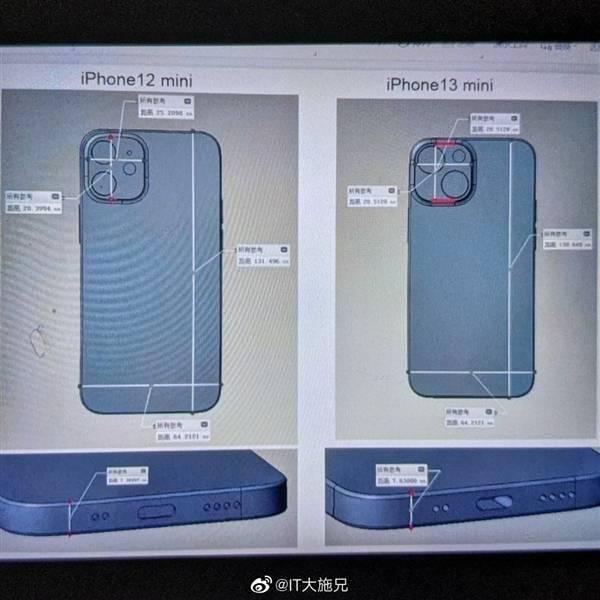 最强小屏旗舰!iPhone 13 mini CAD模型首曝:外观大改