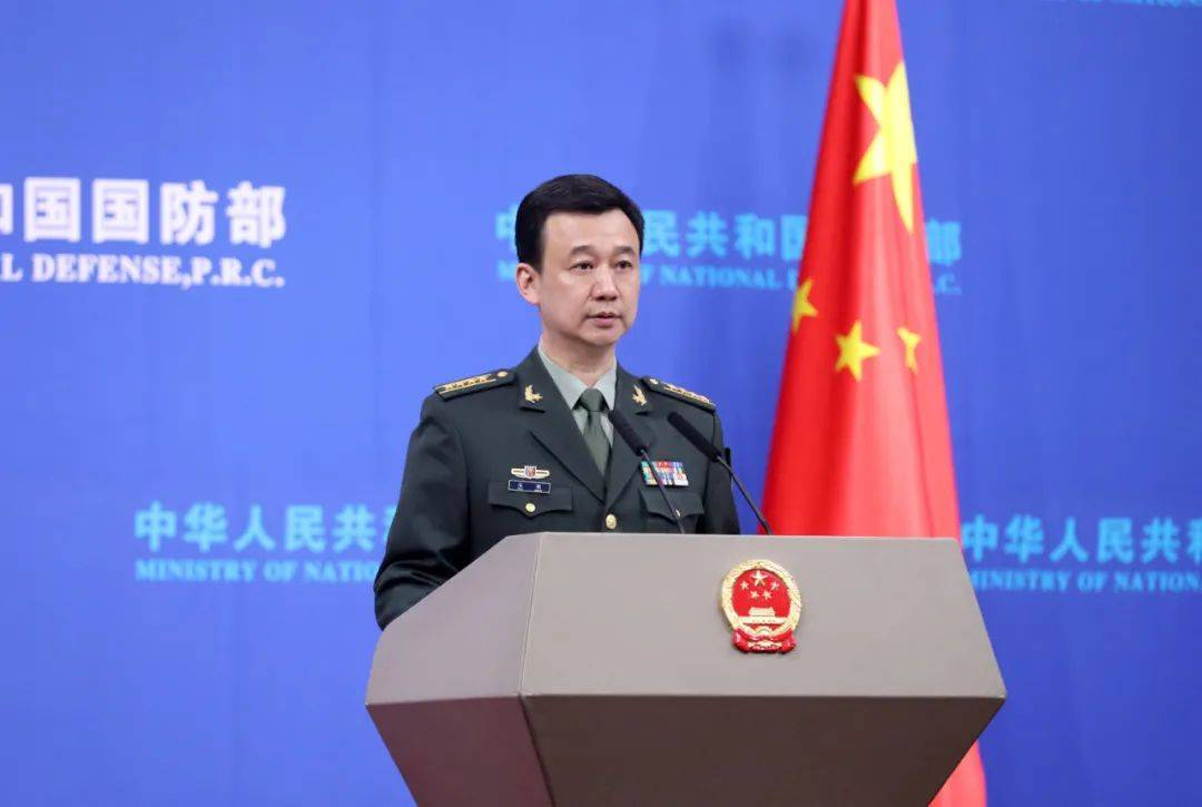 """国防部:中国海军舰艇警告驱离抵近侦察的美舰""""马斯廷""""号"""