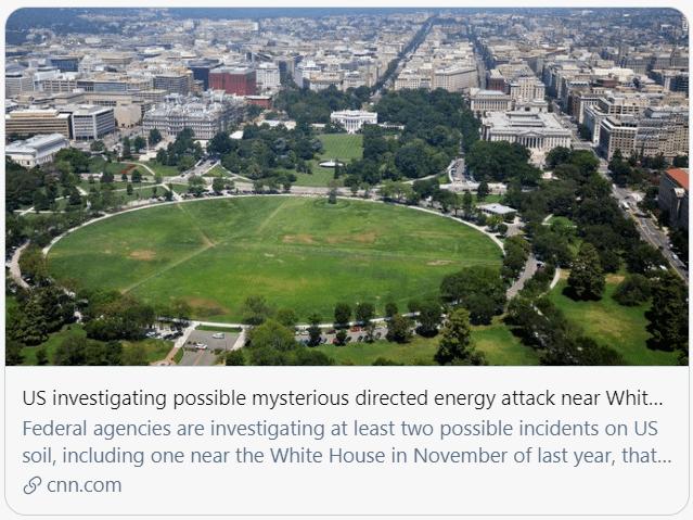 """白宫附近发生""""神秘袭击""""?"""
