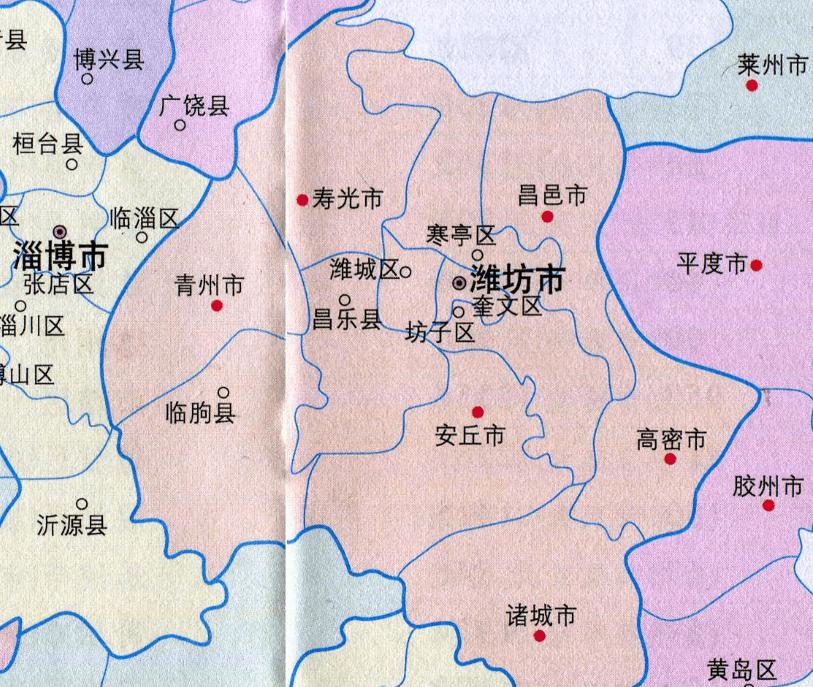 潍坊各区县人口一览:诸城市107.82万,坊子区36.17万