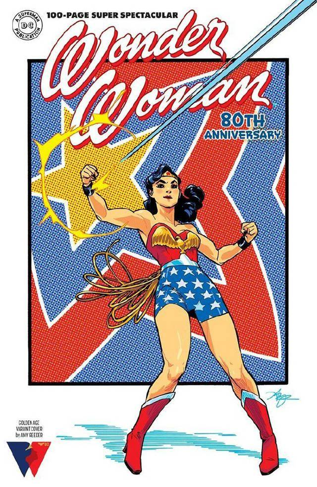 DC漫画公开「神奇女侠」80周年纪念特刊封面插图