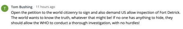 一起签名,调查美国这个实验室!