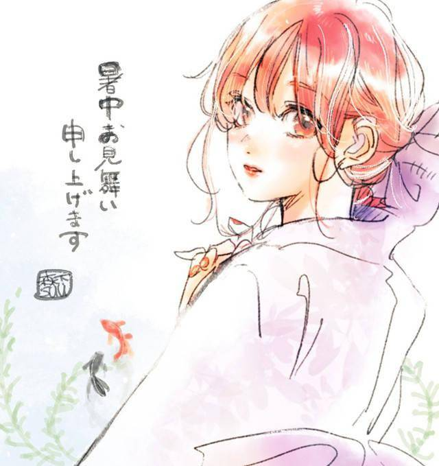 森下suu公开「指尖相触,恋恋不舍」新绘插图