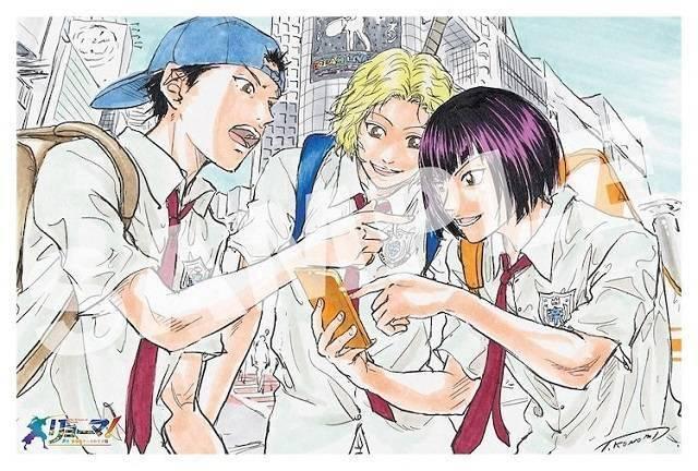 许斐刚「龙马!新生剧场版网球王子」特典插画卡公开插图(4)