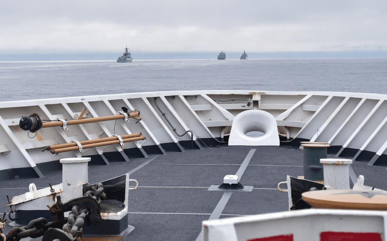 赢咖5官网中国055驱逐舰被拍到现身美国专属经济区,美方公布现场照片后又删除