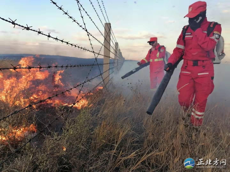 内蒙古成功堵截一起蒙古国境外草原火灾