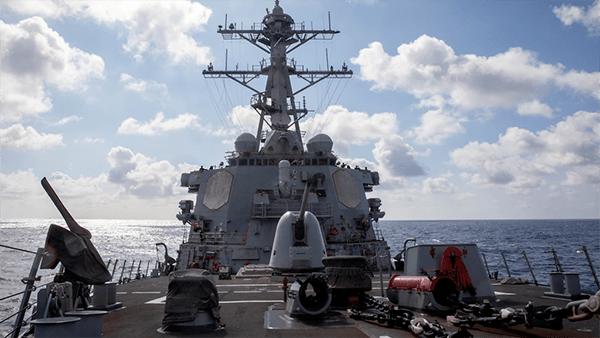 """性质恶劣!美舰又穿越台海,这次还带了""""盟友"""""""