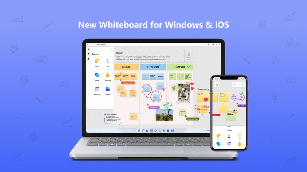 微软 Whiteboard 画布应用更新:全新界面,多平台统一体验
